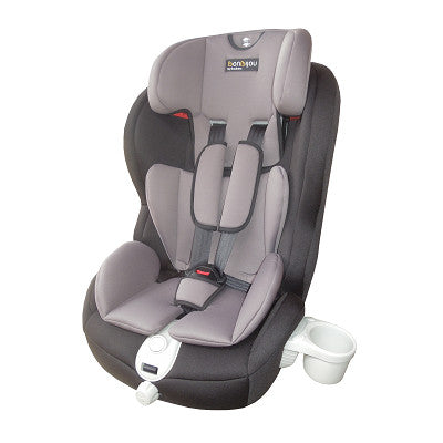 Bonbebe Easy Ride Car Seat C/W Cup Holder (Group 1,2,3) Black/Grey