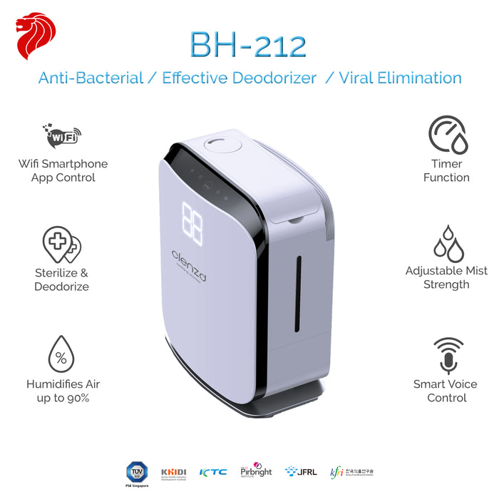Clenzd Ultrasonic Atomizer BH-212 - Medium +FREE 1x 5L Clenzd Biocider
