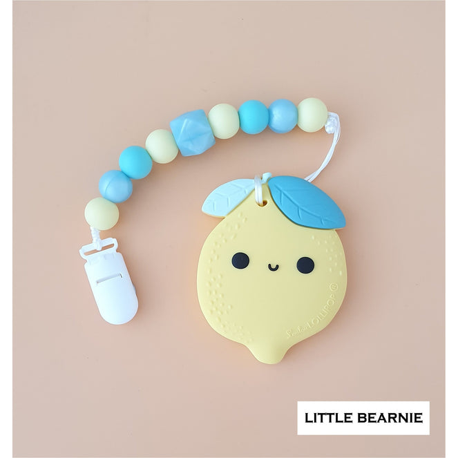 Little Bearnie Modern Baby Teether Clip Set - Cute Cute Lemon