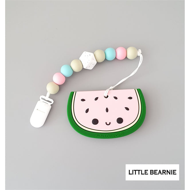 Little Bearnie Modern Baby Teether Clip Set - Cute Cute Watermelon