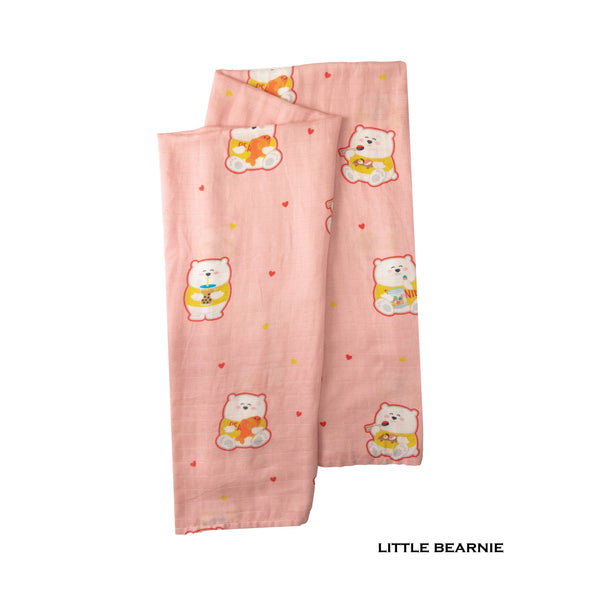 Little Bearnie Swaddle / Baby Blanket - Beary Bearnie (Pink)