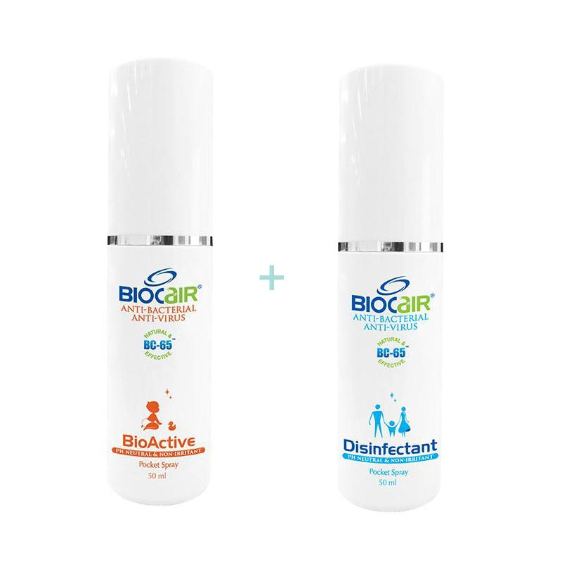 BioCair BC-65 Anti-HFMD BioActive & Disinfectant Pocket Spray Bundle Set