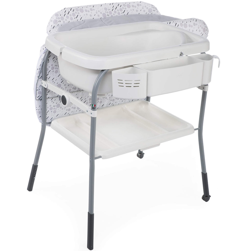 Chicco Cuddle & Bubble Comfort Baby Bathtub / Changing Station Cool Grey