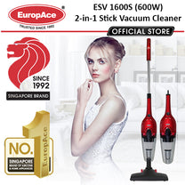 EuropAce 2-In-1 Stick Vacuum Cleaner with HEPA Filter
