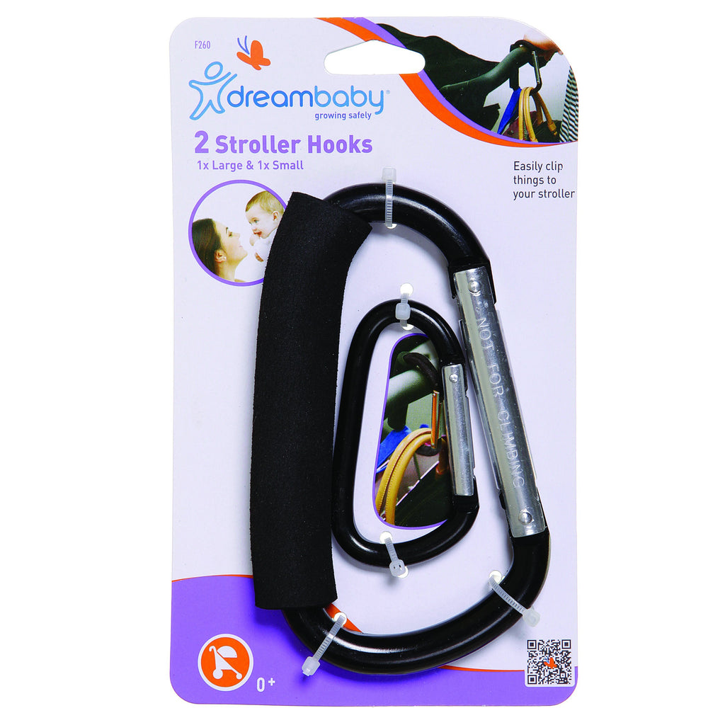 Dreambaby (30) Stroller Hook Carabiner 2pk Large & Small