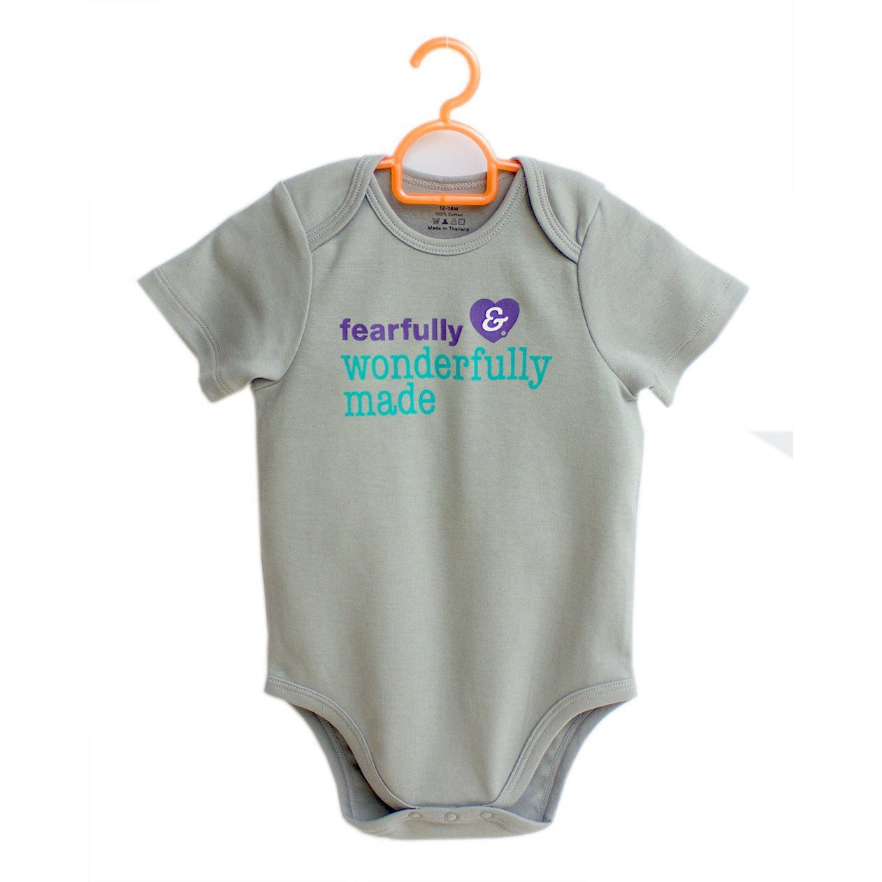 3fdd779d7 Fearfully   Wonderfully Made! 100% cotton baby onesies by Glorious ...