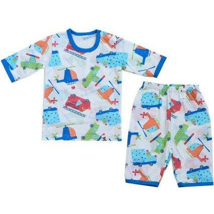 Puco Jacquard Pyjamas Set - Fire Engine