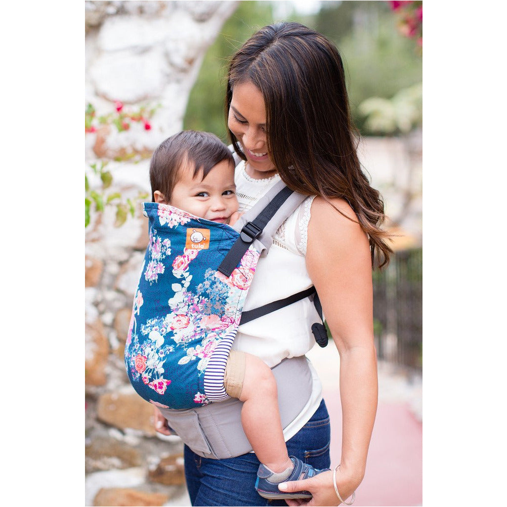 Flora Blue Tula Baby Carrier Standard Little Baby