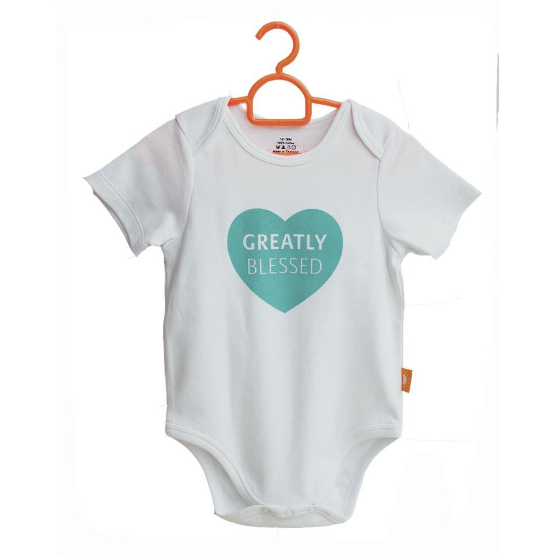 c20dd1898 Greatly Blessed! 100% cotton baby onesies by Glorious Seed - Sowing ...