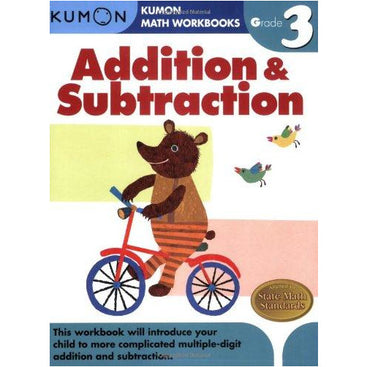 Kumon Math Workbooks Grade 3 Addition & Subtraction