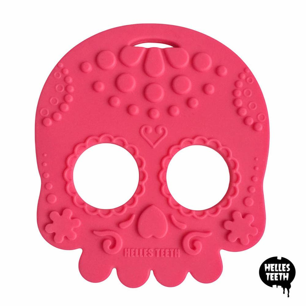 Helles Teeth Sugar Skull Teether (Spice Pink) - Merrybubs