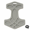 Helles Teeth Thor's Hammer Teether (Beard Grey) - Merrybubs