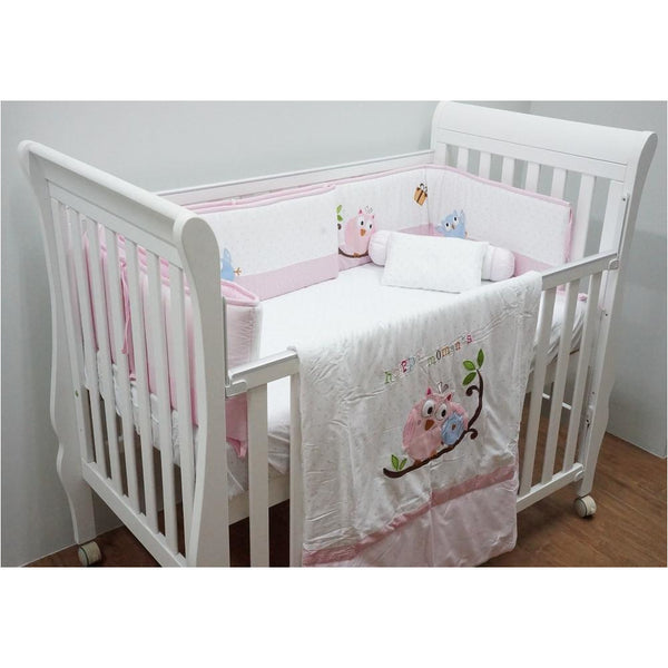 Bedding Set – Happy Moments (Pink Or Blue) - Little Baby