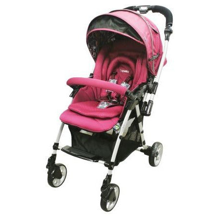 Capella Stroller Adonis Classic Premium Fabric 2015 S-705 Wine - Little Baby Singapore - 2