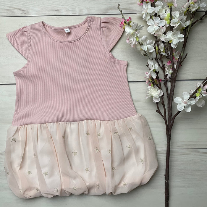 10mois (Dimowa) Star Chiffon Balloon One Piece Pink