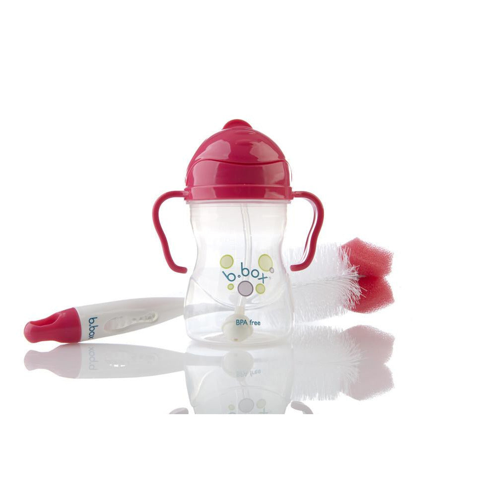 B.Box 2-in-1 Bottle and Teat cleaner (Berry) - Little Baby