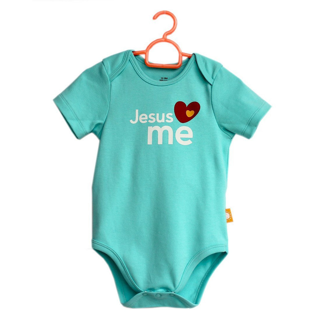 Jesus Loves Me onesies for babies by Glorious Seed your source of Christian inspired baby and children clothes