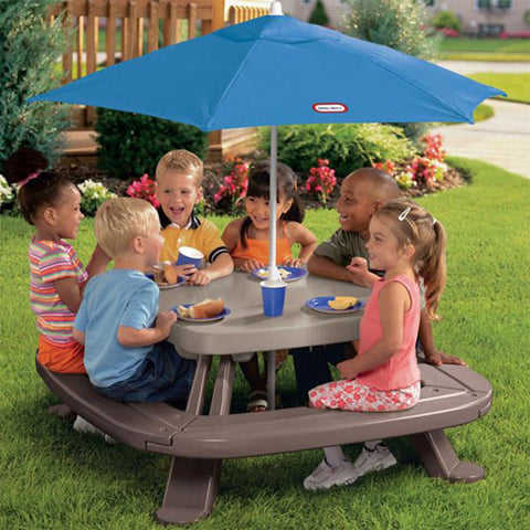 Little Tikes Fold n' Store PICNIC TABLE with UMBRELLA