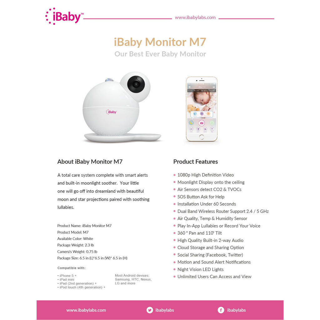 iBaby Care M7 without Wall Mount Kit