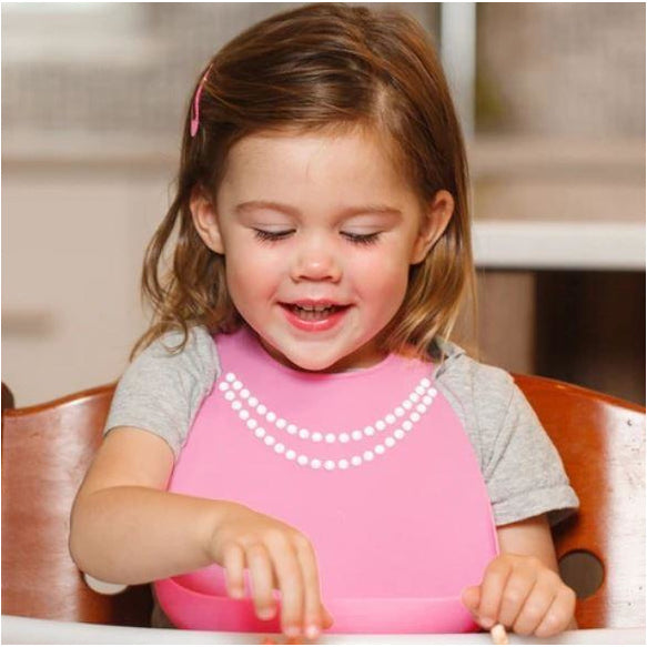 Make My Day Bib - Breakfast At Moms Pink