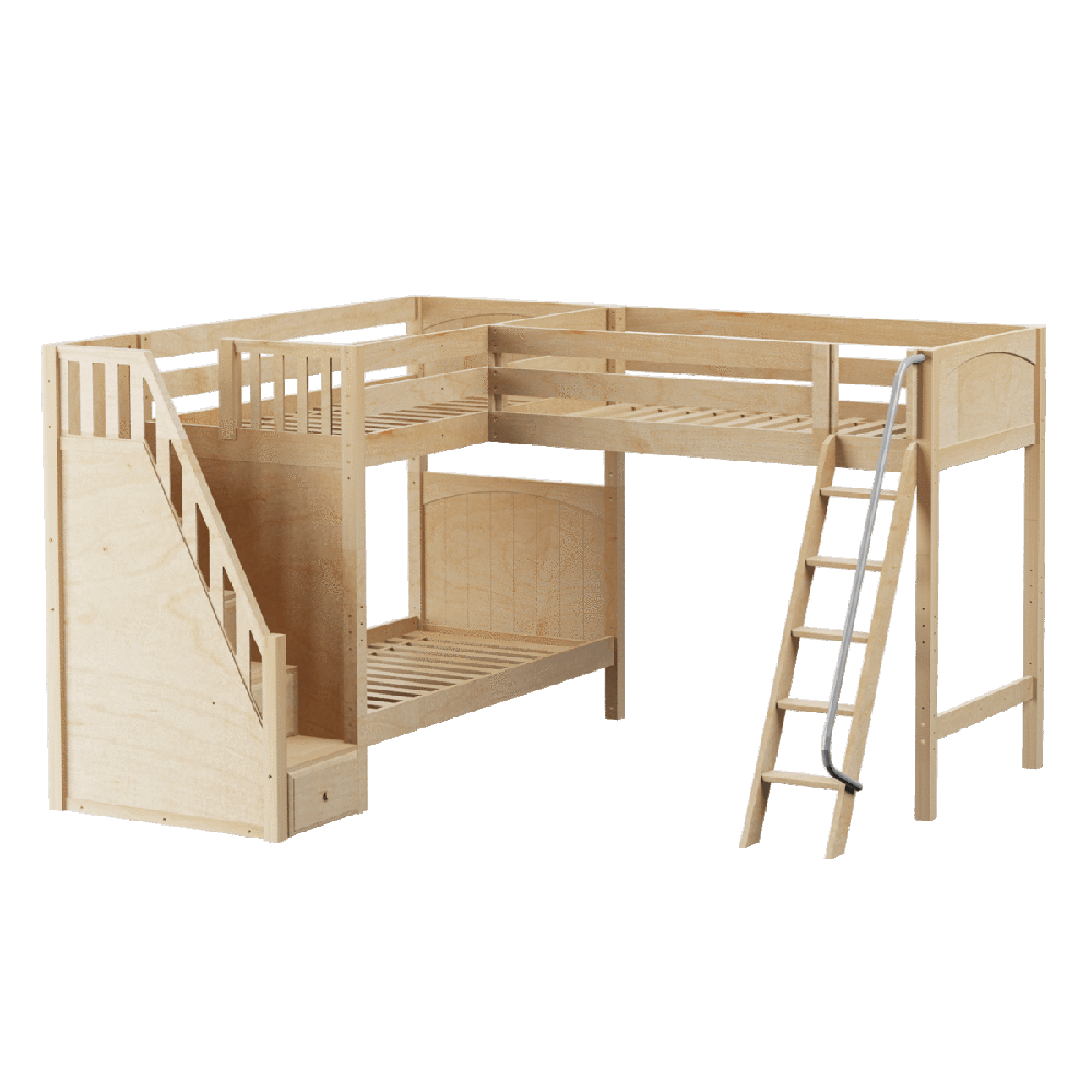 Maxtrix Corner High Loft Bunk (Angled/Staircase)
