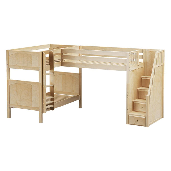 Maxtrix Corner High Loft Bunk (Straight/Staircase)