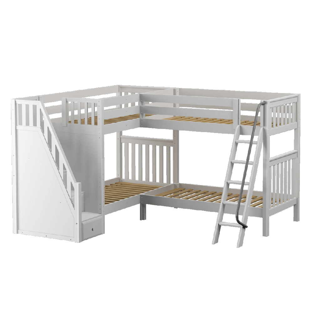 Maxtrix Corner Quad High Bunk (Angled/Staircase)