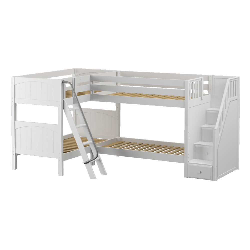 Maxtrix Corner Quad Low Bunk (Angled/Staircase)