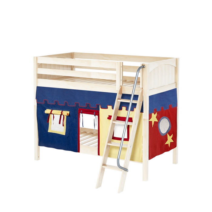 Maxtrix High Bunk w Angled Ladder w Curtains