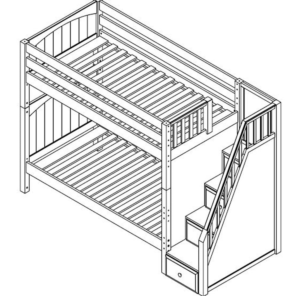 Maxtrix High Bunk w Staircase