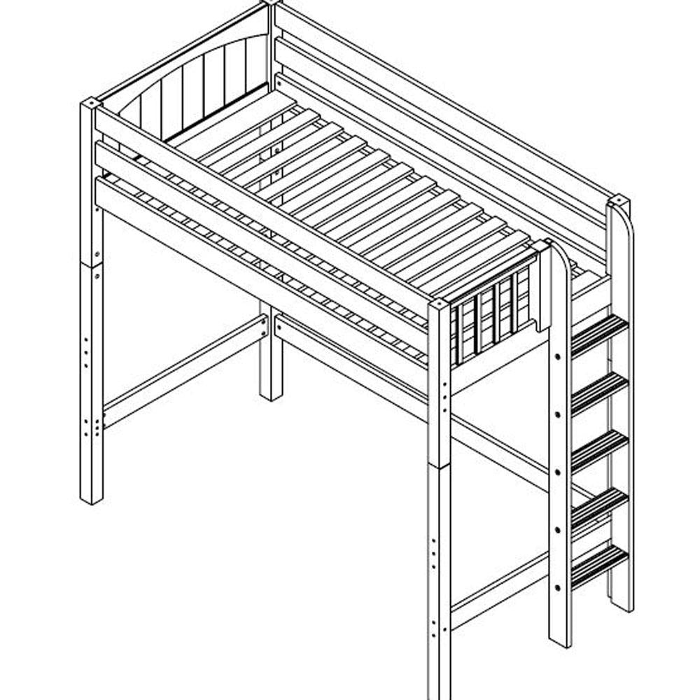 Maxtrix High Loft w Side Straight Ladder