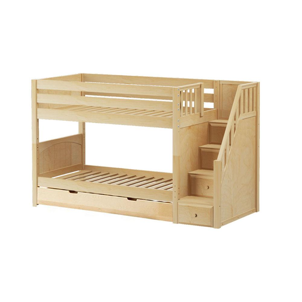 Maxtrix Low Bunk w Staircase (w Pullout)