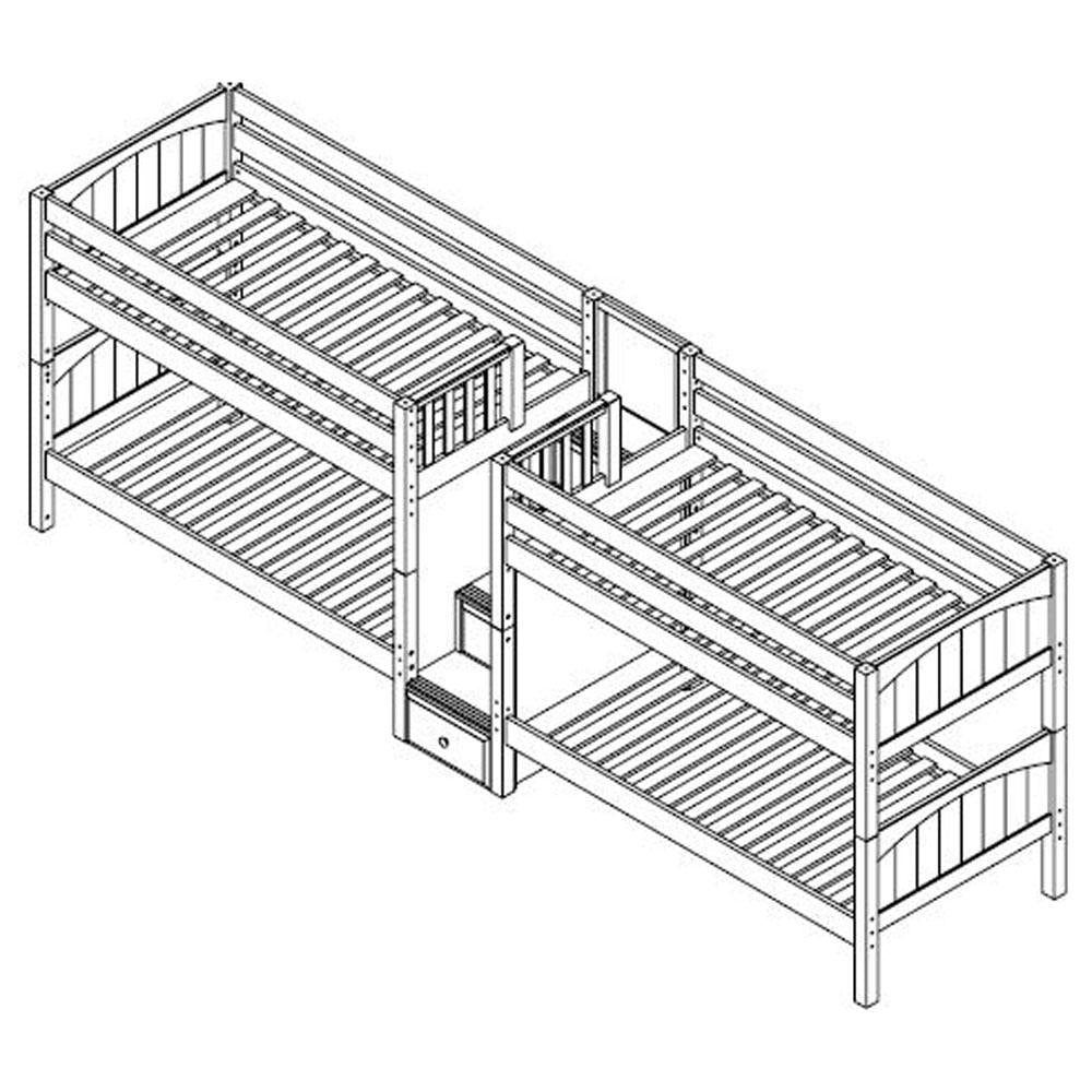 Maxtrix Quad Low Bunk w Staircase