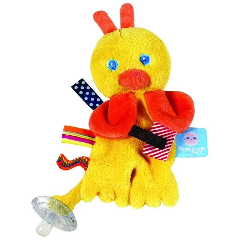 Snoozebaby Pacifier Holder - Flo the Cuddling Duckling - Little Baby