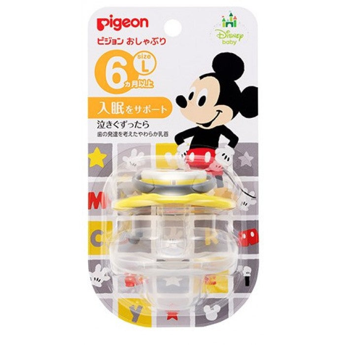 Pigeon Calming Soother L Size Mickey 6m+