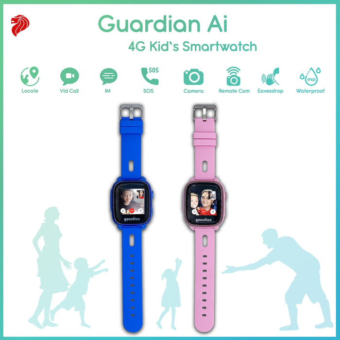 Guardian Ai 4G Kids Smartwatch - Blue