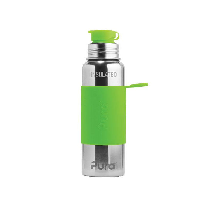 Pura PR850NSP/G 850ml Sports Bottle & Sleeve - Green