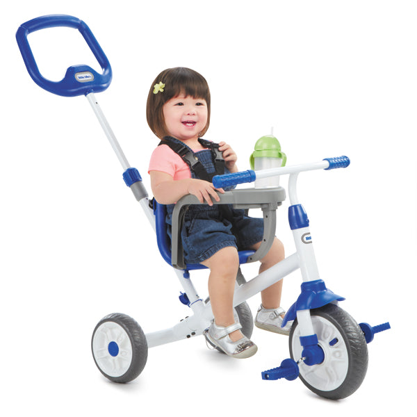 Little Tikes RIDE 'N LEARN 3-IN-1 TRIKE BLUE