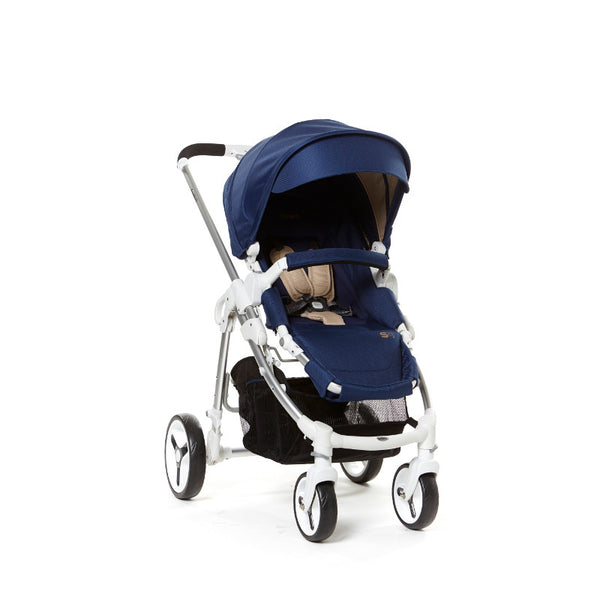 Fedora S9 White Stroller - Mulberry Navy - Little Baby
