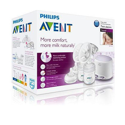 Philips Comfort Double Electric Breast Pump SCF 334/02 - Little Baby