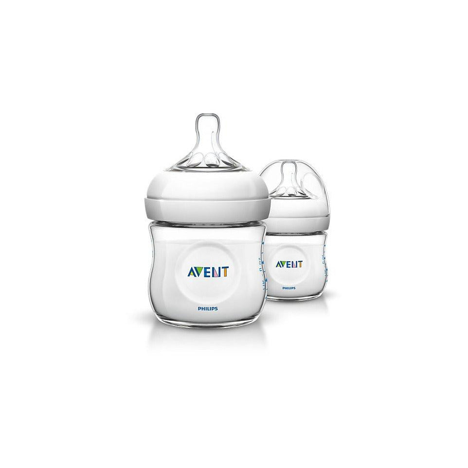 Philips AVENT 4oz/125ml Natural baby bottle Twin Pack - Little Baby