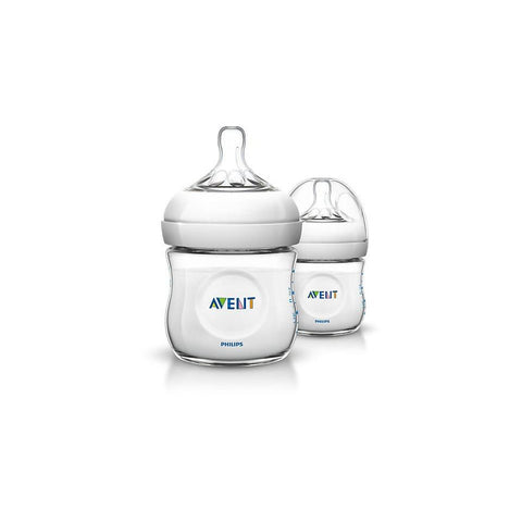 Philips AVENT 4oz/125ml Natural baby bottle Twin Pack SCF690/27