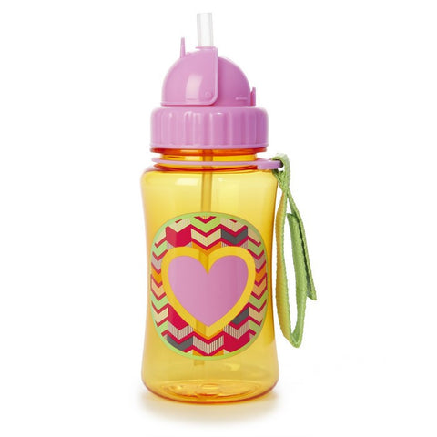 Skip Hop Forget Me Not Straw Bottle - Heart