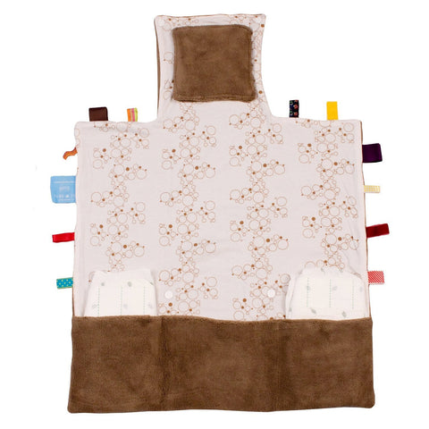 Snoozebaby Changing Pad - Easy Changing (Camel Bubbles)