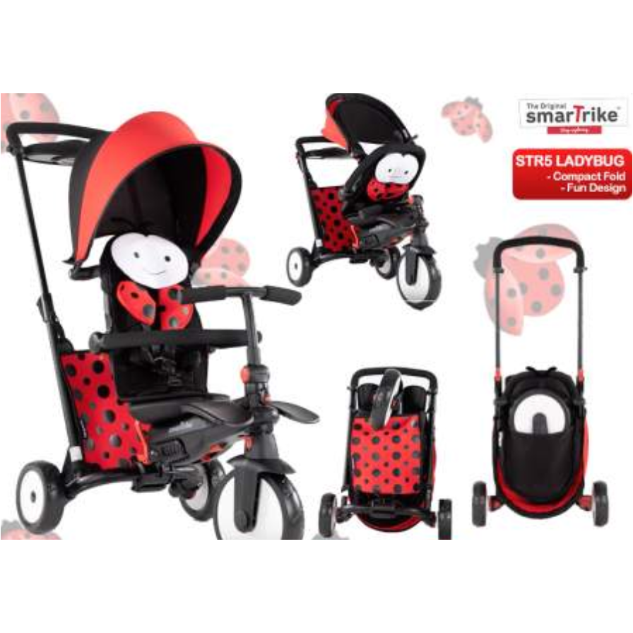 SMART TRIKE STR5 - LADYBUG (W/ Brake)