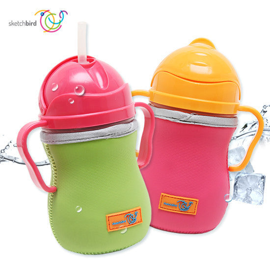 B.Box Twin Sippy Cups & Neoprene Cover Bundle - Little Baby