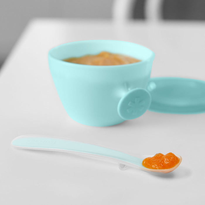 Skip Hop Easy-Feed Spoons - Grey/Soft Teal