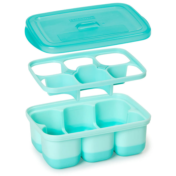 Skip Hop Easy-Fill Freezer Trays-Grey/Teal