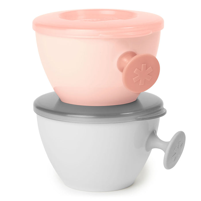Skip Hop Easy-Grab Bowls-Grey/Soft Coral