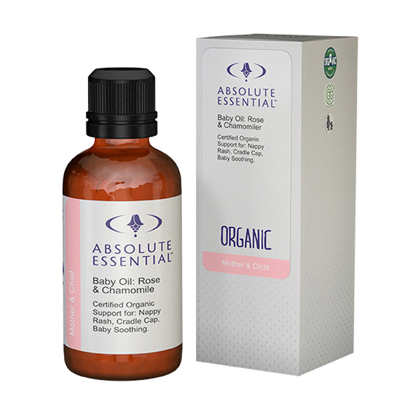 ABSOLUTE ESSENTIAL BABY OIL ROSE CHAMOMILE ORGANIC - 50ML